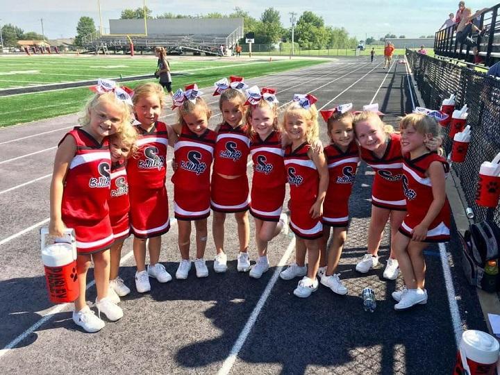 from Edwin young junior girls cheerleading